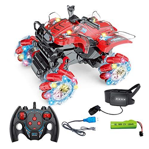 yasu7 1:16 de cuatro ruedas de transmisión de gestos de detección de control remoto, truco de luz de escalada de motocicleta juguete eléctrico