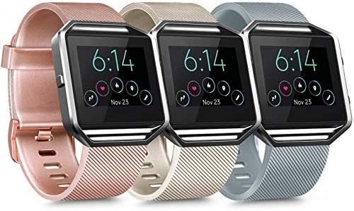 3 Pack Silicone Bands Compatible with Fitbit Blaze Bands for Women Men Replacement Sport Wristband product image