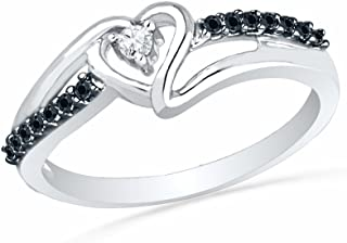 Best black and white diamond promise ring Reviews