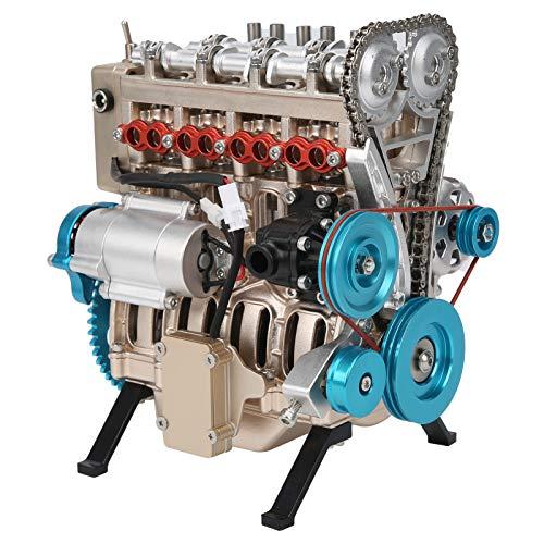 Longzhuo 357Pcs TECHING Kit de construcción de motor de coche de 4 cilindros Modelo de ensamblaje de maquinaria de metal completo DM13