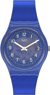 Swatch Gent Standard Quartz Silicone Strap, Blue, 16 Casual Watch (Model: GL124)