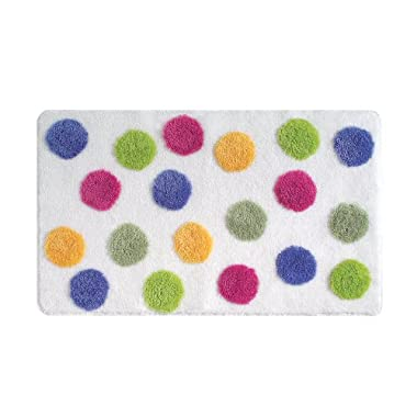 InterDesign Glee Bath Accent Rug, Polka Dot, Multi Color