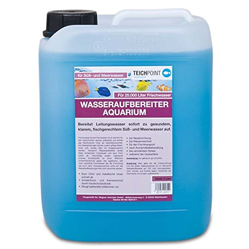 Teichpoint Wasseraufbereiter für Ihr Aquarium, für optimales, fischgerechtes und naturnahes Aquariumwasser (5 Liter)