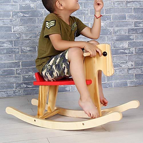 WEIHONG Decoraciones for niños Caballo de Troya Bebé Caballo Mecedora Silla Mecedora de Juguete, Tamaño: 67x25x54cm