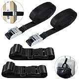 AFUNTA 4 piezas de correas de pestañas y añadir cinturones de equipaje, correa de carga y cinturones ajustables para...