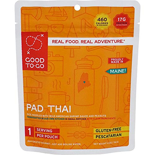 GOOD TO-GO Pad Thai - Single Serving   Dehydrated Backpacking and Camping Food   Lightweight   Easy to Prepare
