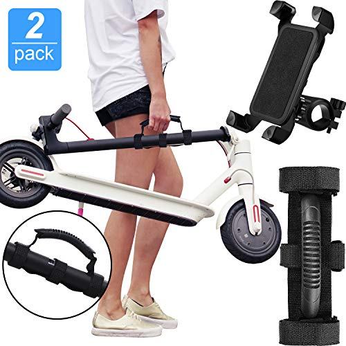 Portable Hand Carrying Handle Straps Carrying Handle Bandage Belt Webbing Scooter Carrying Accessories and Bicycle Phone Holder for Xiaomi M365 Mi Ninebot Electric Scooter Goods ES1/ ES2/ ES3/ ES4