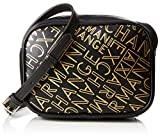 ARMANI EXCHANGE Small Crossbody Bag - Borse a tracolla Donna, Oro (Black/Gold), 13x6.5x18 cm (B x H T)