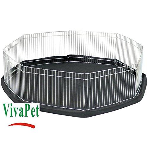 VivaPet - Parque para Animales con Paneles Laterales, Octogonal, para