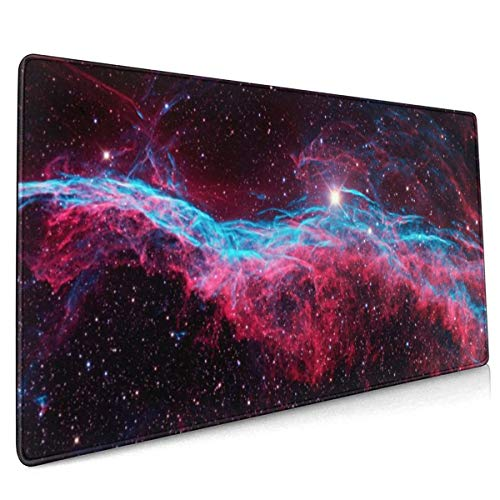 Bezem Nebula Een Supernova Mouse Pad Niet Slip Rubber Grote Gaming Keyboard Mat 15.8x35.5 In
