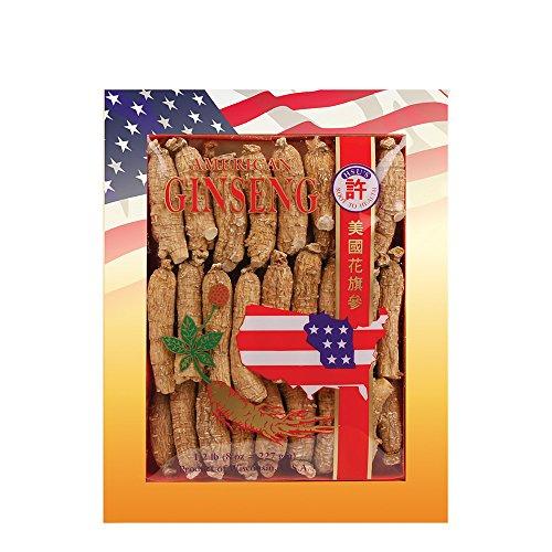 SKU #0132-8, Hsu's Ginseng Half Short Medium Cultivated American Ginseng Roots (8 oz = 227 gm/Box), 0132-8, 0132.8
