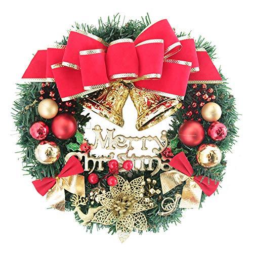 N-K Weihnachten Weihnachtskranz Rattan Puppe Girlande lustige Party Tür Wand Dekoration Geschenk für drinnen und draußen kreativ und nützlich