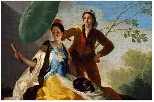 SYCEZHIJIA Francisco Goya Das Sonnenschirm-Puzzle 1000-teiliges Puzzlespiel Kunstwerk für Erwachsene Jugendliche Kinder Kinder 20 x 30 0220