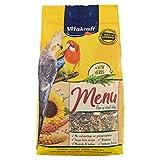 Vitakraft - Menú Premium para Cotorras con Mezcla de Semillas y Frutos Secos, Alimento Principal - 1 kg