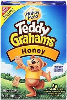 Teddy Grahams Snacks, Honey, 10-Ounce Boxes (Pack of 6)