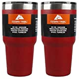 Ozark Double-Wall Insulated stainless steel tumblers - set of 2, 30 oz (Red)