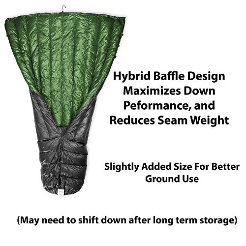 Outdoor Vitals Down TopQuilt Review - Baffles for performance