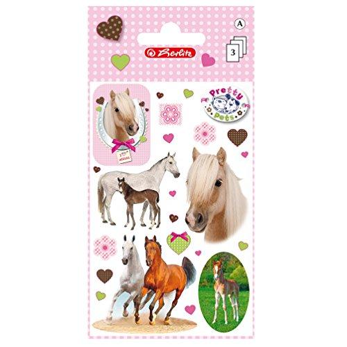 Herlitz 11294584 Sticker Pretty Pets Pferde, selbstklebend, FSC Mix