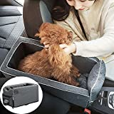 Pet Bed for Car Travel,Small Dog/Cat Booster Seat ON Car,Car Center Console Puppy Booster Armrest Pet Carrier Bed for Small Pets,Safety Tethers Included , Suitable for Most Car