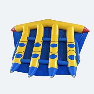 JYNselling PVC Inflatable Flying Fish 8 Person Seat Banana Boat Raft Towable Tube Float + Blower