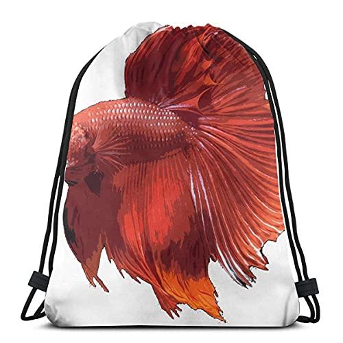 Lmtt Mochila con cordón para gimnasio, mochila con peces tropicales, bolsa para almacenamiento de viaje, organizador de zapatos, ahorro de yoga para adultos, talla única