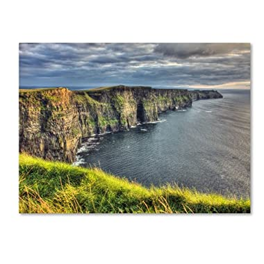 Trademark Fine Art Cliffs of Moher Ireland by Pierre Leclerc work, 30 by 47-Inch Canvas Wall Art