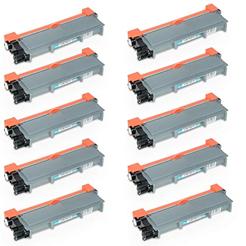 Kit 10 Toner Compatibili per Brother HL-L2300D L2320D L2340DW L2360DN L2365DW L2380DW DCP-L2500D L2520DW L2540DN L2560DW MFC-L2700DW L2720DW L2740DW, Nero