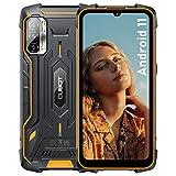 "Rugged Smartphone Unlocked, CUBOT Kingkong 5 Pro Android 11 Rugged Phone, 6.1"" HD+ Screen, 8000mAh Battery, 48MP Camera Android Phone Unlocked, 4GB+64GB, 4G Dual SIM, US Version - Black+Orange"