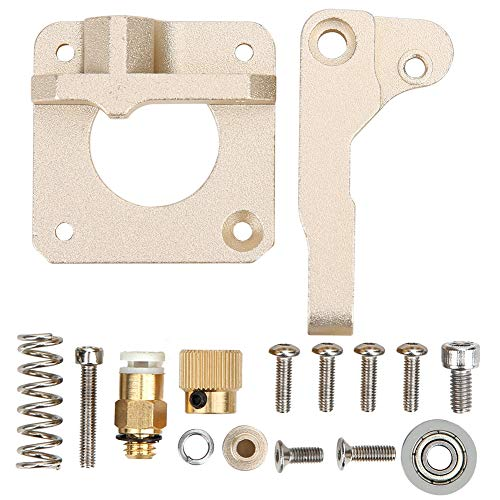 Left Hand CR-10 Extruder Upgraded Replacement Kit, MK8 Extruder Drive Feed Alloy Frame Block DIY for Reprap i3 for Creality Ender 3D Printer