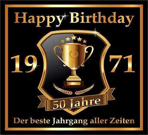 RAHMENLOS 3 St. Aufkleber zum 50. Geburtstag: 1971 der Beste Jahrgang Aller Zeiten - Selbstklebendes Flaschen-Etikett. Original Design