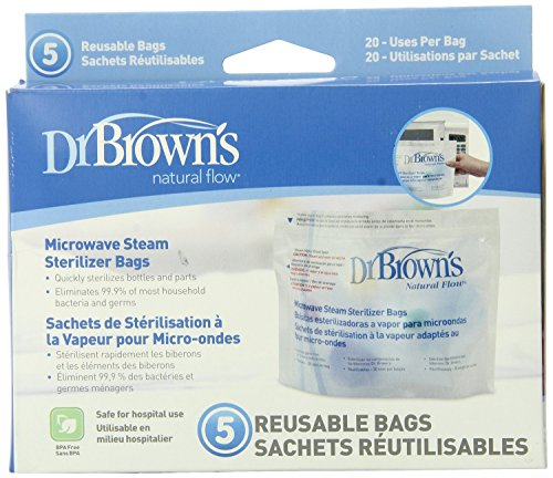Lowest Prices! Dr. Brown's Microwave Steam Sterilizer Bags, 5 ct