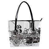 Vintage pompa a vapore su carrozza donna PU pelle moda borsa superiore maniglia borse a tracolla totes borse borse