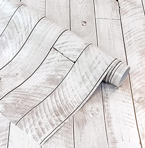 Vinilo Decorativo Para Pared y Muebles Papel Autoadhesivo Impermeable Textura Imitación Madera Decapé (250x62 cm, Madera Decapé)