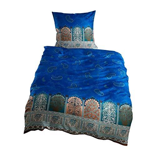 Bassetti Mako-Satin Bettwäsche Delhi B7 1 Bettbezug 135 x 200 cm + 1 Kissenbezug 80 x 80 cm