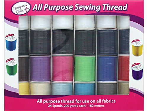 Allary Set 24pc All Purpose Sewing Thread Assorted