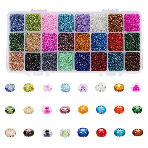 Weimay 1 perlas redondas de cristal de 2 mm, para manualidades, accesorios de joyería, accesorios de joyería, perlas de cristal, pequeñas caramelos, perlas redondas, cristal de arroz, perlas de arroz.