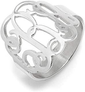 Best sterling silver monogram ring Reviews