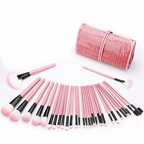 FUHOAHDD Make-up Pinsel Schönheit Make-up Pinsel Kosmetik Professionell Wesentlich 32 Stück...