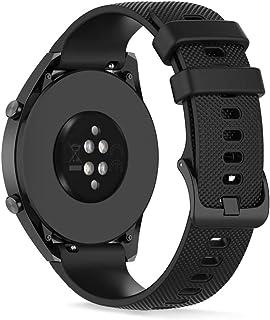 22mm Pulsera de Silicona Banda de Repuesto, Ficocean Correa de Reloj Compatible con HUAWEI Watch GT Active/ GT2 Pro/ GT 2...