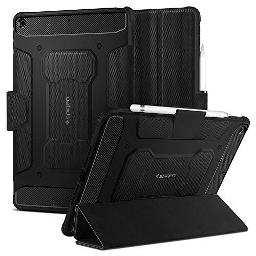 Spigen Rugged Armor PRO Compatibile con iPad 10.2 Custodia, iPad 8 Generazione Cover (2020) / iPad 7 Generazione Cover (2019) - Nero