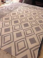 Elegant Beni Ourain フラット織り エリアラグ 5フィート x 8フィート ウール リバーシブル Klim