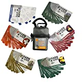 UST Learn & Live Outdoor Skills Educational Card Set with Durable, Waterproof, Compact Design and Storage Case for Hiking, Camping and Outdoor Survival