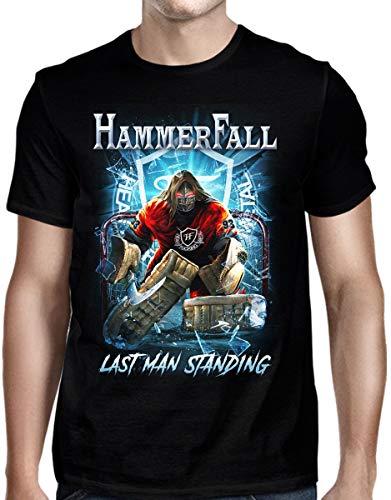 DressCode HammerFall – Herren T-Shirt Last Man stehend - Schwarz - Groß