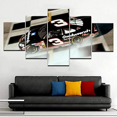 VKEXVDR Impresión HD Pintura 5 Partes Racing Car 03 – Automative Mural no Tejido Impresión Moderno Ilustraciones,para CAS Decoración Innovador Regalo(Sin Marco)