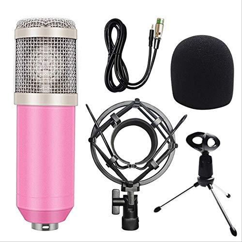 RRYM Microfoons Condenser Microfoon Geluidsopname Karaoke Voor Computer+shock Mount+schuim Cap+kabel Als Microfoon B 2