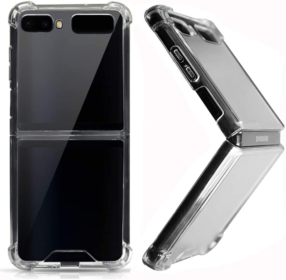 Miimall Compatible with Samsung Galaxy Z Flip/Z Flip 5G Case Ultra Thin Crystal Clear Soft TPU Rubber Scratch Resistant Anti-Slip Cover Case for Samsung Galaxy Z Flip/Z Flip 5G (Clear)