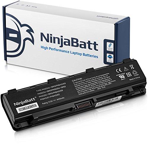 NinjaBatt Batteria per Toshiba PA5024U-1BRS PABAS260 PA5109U-1BRS PA5023U-1BRS PA5026U-1BRS PA5025U-1BRS PABAS262 PA5027U-1BRS Satellite C850 L850 C855 P850 - Alte prestazioni [6 Celles 4400mAh 48wh]