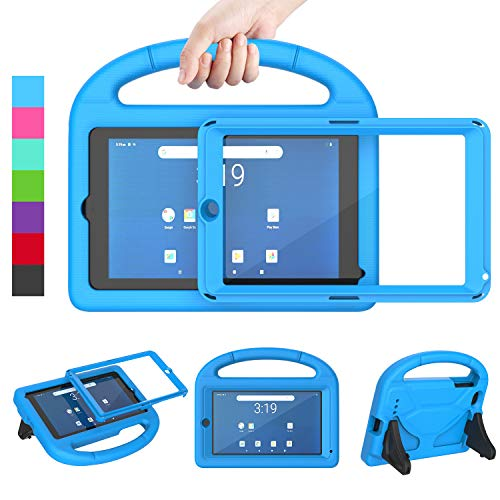 LEDNICEKER Kids Case for Onn 7 Tablet,Onn 7 inch Tablet Case with Built-in Screen Protector, Lightweight Shockproof Handle with Stand Kid-Proof Case for Onn 7 inch Tablet (Model:100005206), Blue