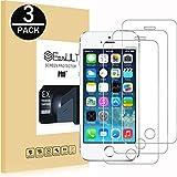 EasyULT Verre Trempé pour iPhone 5S[3-Pièces], Vitre Protection Film Protection Glass Tempered...