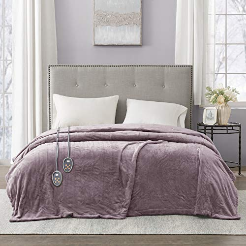 Beautyrest Heated Plush Elect Electric Blanket...